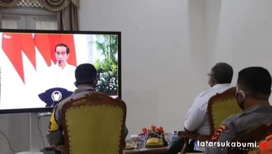 Rapat Koordinasi Kebencanaan Presiden Joko Widodo BNPB dan Bupati Sukabumi
