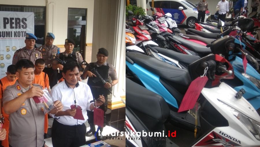 12 Pelaku Curanmor yang Kerap Beraksi di Sukabumi Dibekuk Polisi