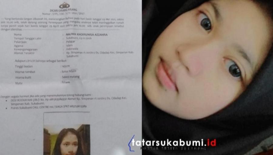 Dicari! Gadis Simpenan Sukabumi Hilang Tanpa Kabar