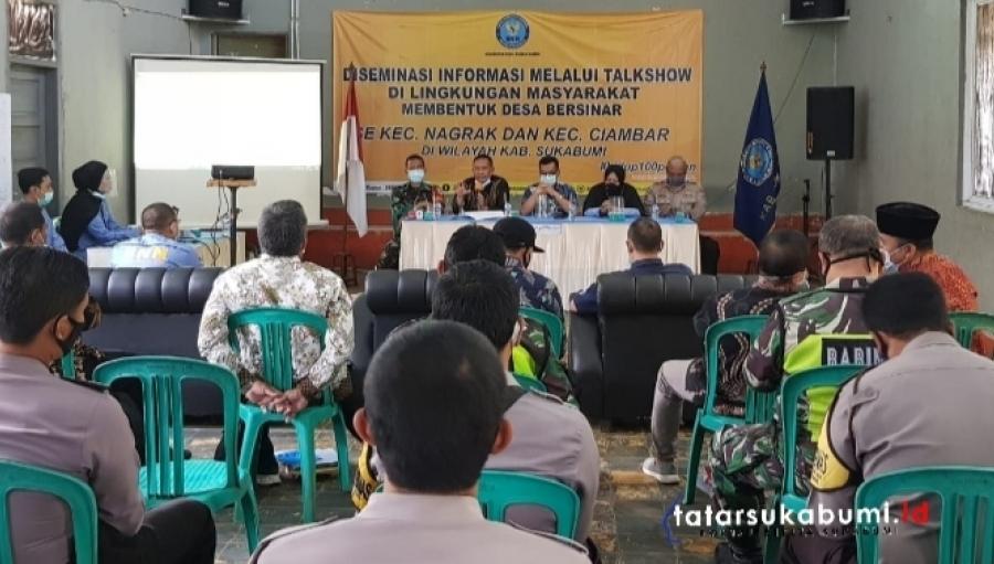 Pembentukan Desa Bersinar di Kecamatan Nagrak dan Ciambar oleh BNNK Sukabumi