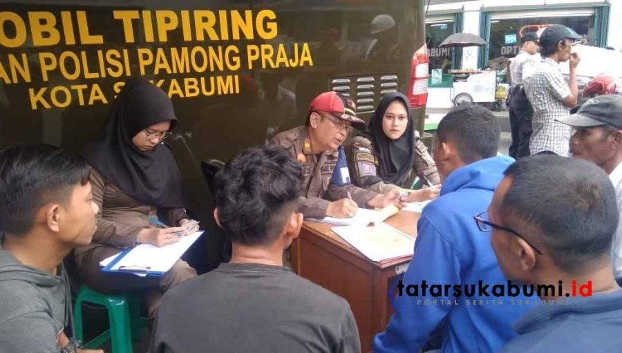 Razia Satpol PP Sukabumi, Jualan di Zona Merah Sukabumi Siap Siap Sanksi Tipiring