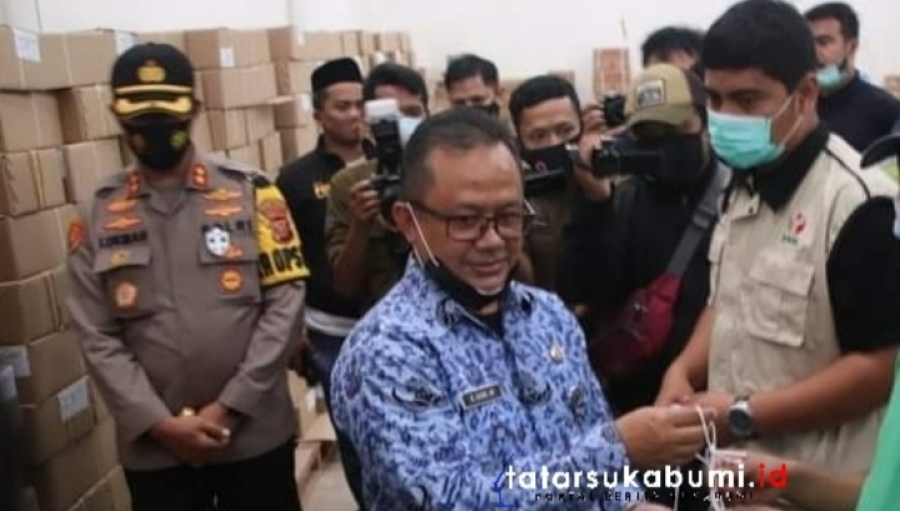 Tinjau Gudang Logistik KPU, Pjs Bupati Sukabumi : Tidak Ada Kebocoran dan Telah Diantisipasi dari Hama Tikus