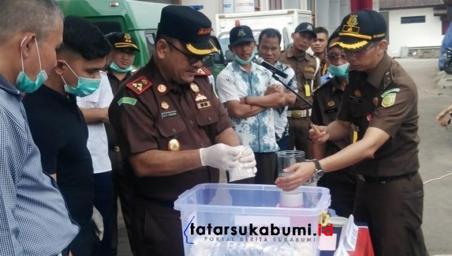 Pemusnahan Barbuk oleh Kejari Kabupaten Sukabumi, Tindak Pidana Narkoba di Sukabumi Masih Tinggi