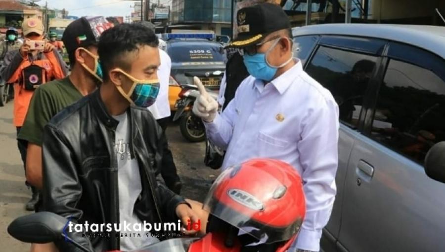 PSBB Sukabumi, Adjo Sardjono : Tidak Satu Keluarga Tidak Boleh Boncengan Ojek Online Tidak Boleh Tarik Penumpang