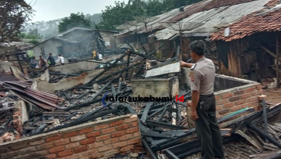 4 Rumah di Bojong Asih Ludes Terbakar
