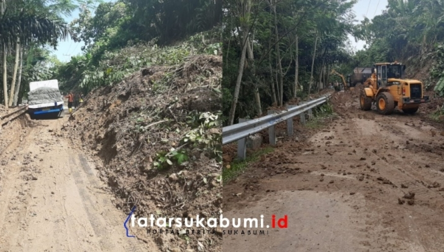 Sempat Terputus Akibat Longsor, Akses Jalan Sagaranten Tegalbuleud Mulai Dibuka Sistem Buka Tutup