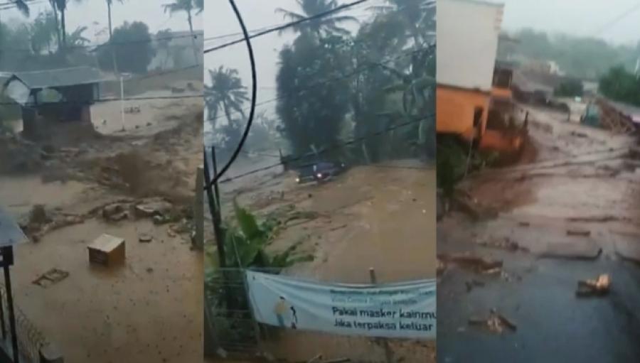 Breaking News! Banjir Bandang Terjang Cicurug 12 Rumah dan Kendaraan Hanyut Tersapu Bah