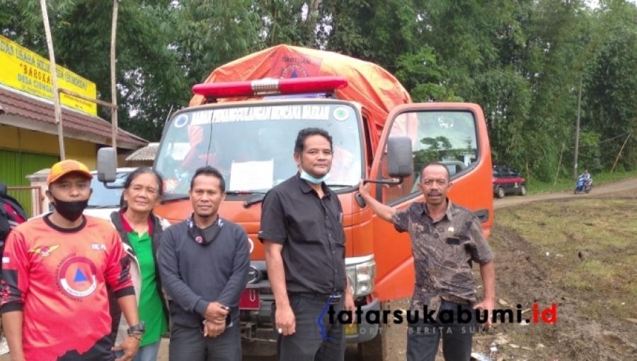 Wakil Ketua DPRD Kabupaten Sukabumi Tinjau Ratusan Warga Korban Bencana Pergerakan Tanah Gegerbitung