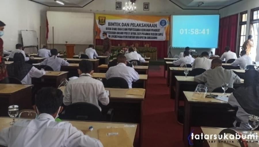 BKPSDM Laksanakan Ujian Dinas dan Penyesuaian Kenaikan Pangkat ASN Kabupaten Sukabumi