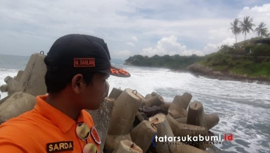 Operasi Pencarian 2 Korban Tenggelam di Palabuhanratu