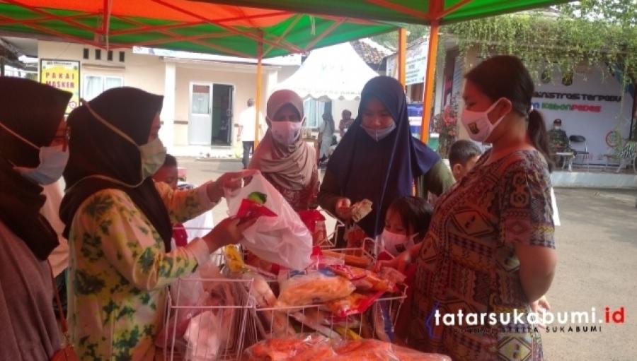 Pasar Murah Rakyat di Kecamatan Kebonpedes Harga Dibawah Pasaran Ada 250 Paket Sayuran Gratis Setiap Hari