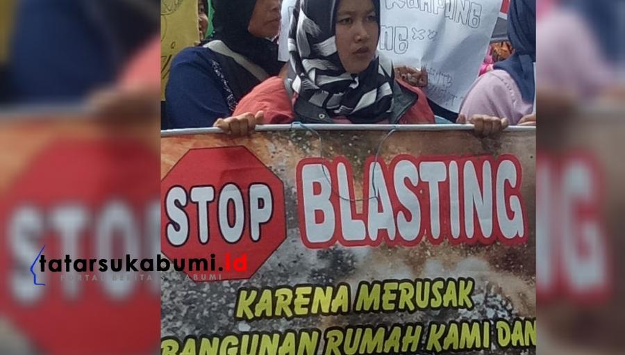 Tambang Semen di Sukabumi Disoal, Warga Demo DPRD Minta Stop Blasting