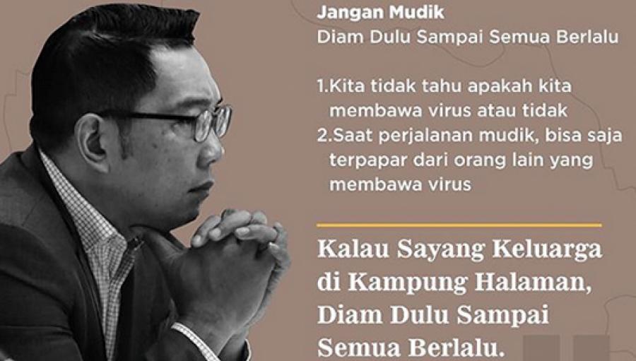 Ridwan Kamil Keluarkan Maklumat Larangan Mudik, Jika Akan Pulang ke Sukabumi Perhatikan Detailnya