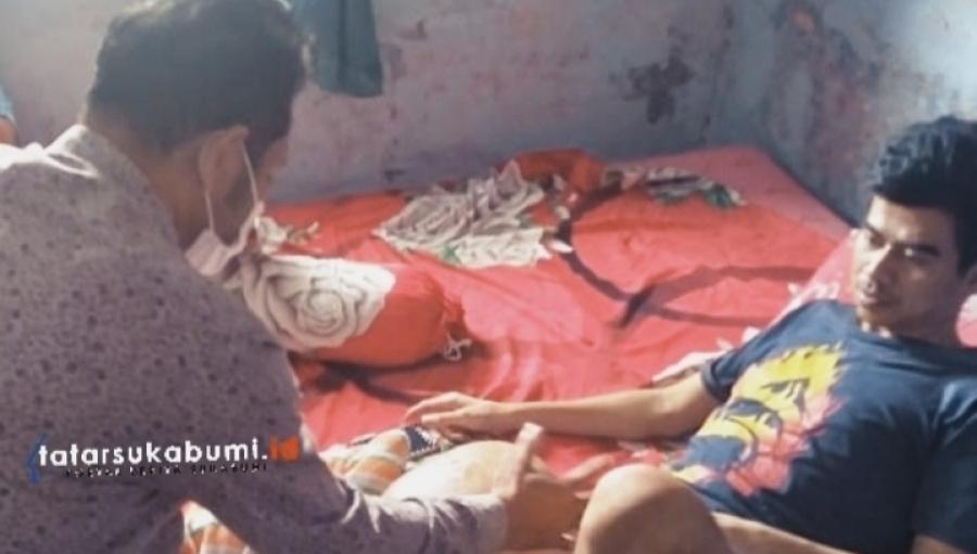 Penderita Tumor Kaki Asal Parakansalak Itu Dibantu Wakil Ketua DPRD Kabupaten Sukabumi