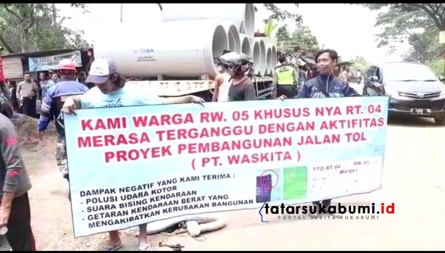 Aksi Spontan Warga Turun ke Jalan Dampak Aktivitas Proyek Tol Bocimi