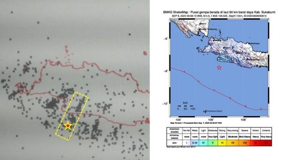 BMKG : Gempa Tektonik Dangkal Sukabumi