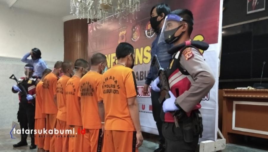 Polres Sukabumi Kota Ringkus Komplotan Spesialis Pembobol Rumah Beraksi di 18 TKP