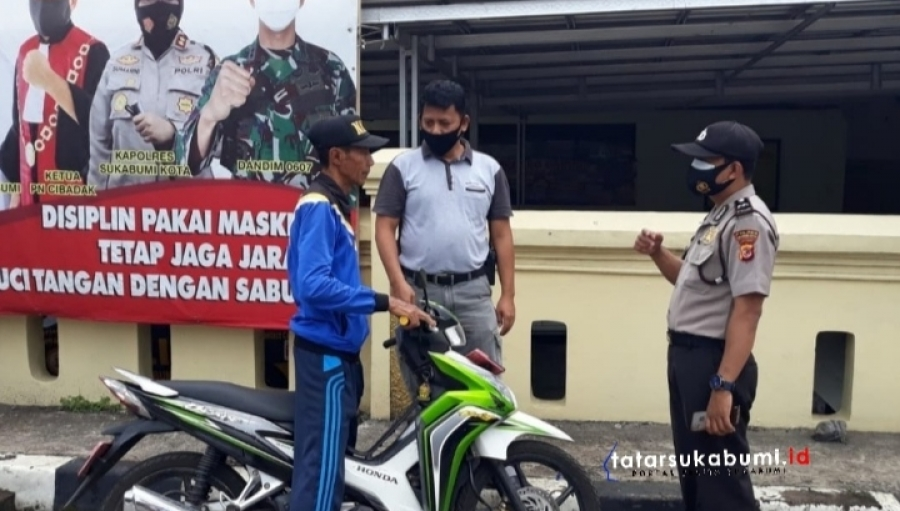 Operasi Yustisi Protokol Kesehatan Kepolisian Sektor Baros Sukabumi
