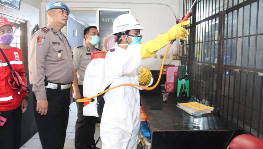 Berantas COVID-19 di Sukabumi Polres Sukabumi Kota Gelar Operasi Aman Nusa II