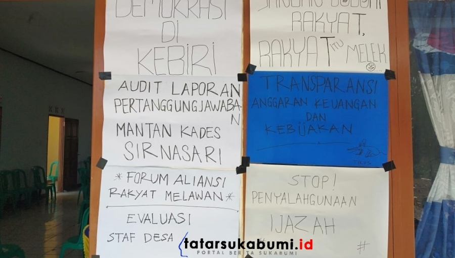 Warga Geruduk Kantor Desa Sirnasari Surade, Tuntut Transparansi dan Pertanggungjawaban Pemerintah Desa