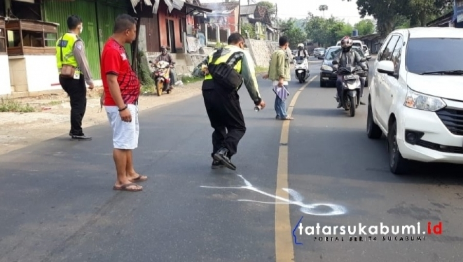 Kecelakaan Maut Jalan Sukabumi Bogor, Pemotor Tewas Terlindas Bus