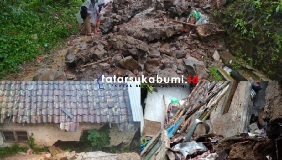 Hujan Sepanjang Hari Ini 3 Titik Longsor di Sukabumi