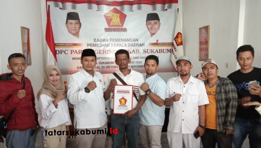 Didukung Massa Padi 47 Kecamatan Umar Sinaga Melenggang Jadi Balon F2 Sukabumi