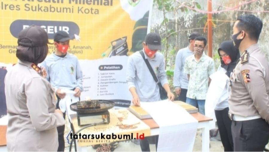 Dekranas Support Rumah Kreatif Milenial Mantan Narapidana dan Geng Motor Sukabumi