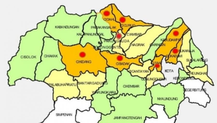 14 Kasus Terkonfirmasi Positif Covid-19 di 7 Kecamatan Kabupaten Sukabumi