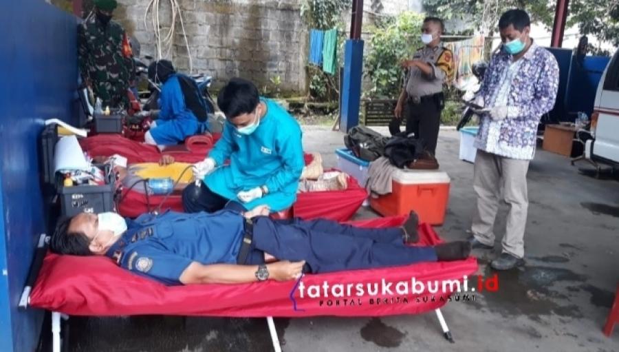 Donor Darah Damkar Kabupaten Sukabumi, PMI Masih Butuh 500 Labu Darah Setiap Bulan