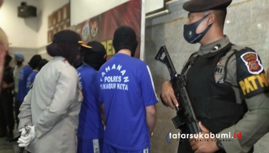 Dalam Sepekan Polres Sukabumi Kota Tangkap 9 Tersangka Kasus Narkoba Barang Bukti 200 Juta Rupiah