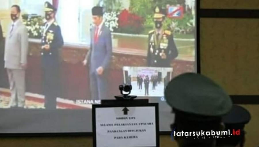 Marwan Hamami Upacara Virtual HUT Bhayangkara Polri 2020 Bersama Presiden Jokowi