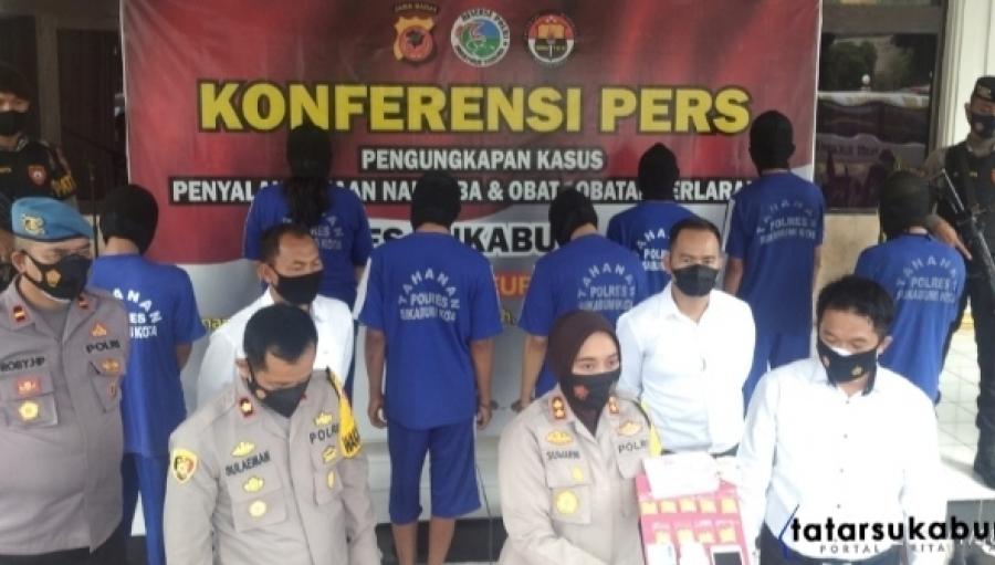 Polres Sukabumi Kota Bongkar Kasus Peredaran Narkoba di 5 Kecamatan hingga Lapas Nyomplong