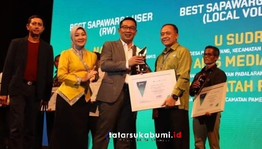 Aplikasi Sapawarga Milik Pemkab Sukabumi Best Jabar Digital Innovation Award (JDIA) 2019