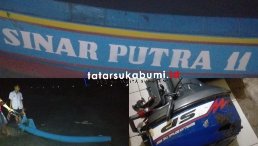 Perahu Nelayan Ujung Genteng Terdampar di Cianjur Dua Awak Kapal Hilang