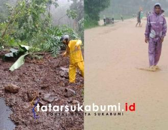 Longsor dan Banjir Akses Jalan Menuju Kawasan Geopark Sementara Ditutup