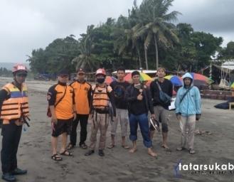 Pencarian Korban Tenggelam Warga Cibadak di Pantai Palabuhanratu