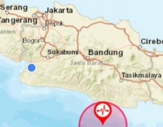 Gempa Terasa di Sukabumi Pusat Gempa Pangandaran