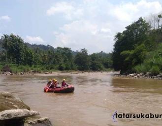 SAR Gabungan Diturunkan Sisir Sungai Cimandiri Evakuasi Korban Tenggelam