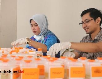 Tahapan Akhir Pilkades Serentak 2019 BNNK Sukabumi Tes Urine Balon Kades
