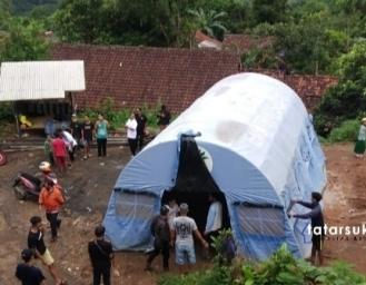 Kondisi Terkini Pergerakan Tanah di Cibadak Sukabumi