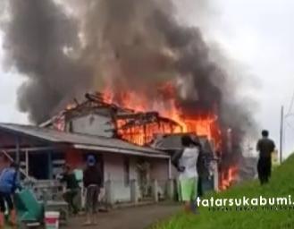 4 Rumah dan 8 Motor Ludes Terbakar di Kabandungan Sukabumi