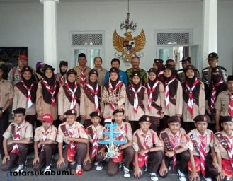 Kwarcab Pramuka Kabupaten Sukabumi Jajaki Festival Pionering Sekaligus Tuan Rumah Pertikawan Tingkat Nasional