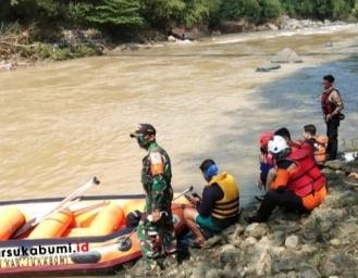 Hari Kedua Proses Pencarian Korban yang Dilaporkan Terseret Arus Saat Mancing di Sungai Cimandiri