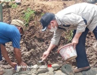 Peletakan Batu Pertama Jembatan Gantung Penghubung 2 Kecamatan Kabupaten Sukabumi
