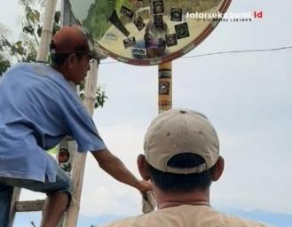 Hikmah Dari Tangan Jahil Komunitas Tempel Stiker di Cermin Lalu lintas Jalan Geopark Ciletuh