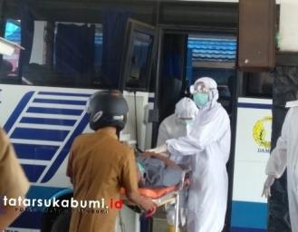 Lansia Warga Cianjur Meninggal Dunia Dalam Bus Damri di Terminal Palabuhanratu Sukabumi