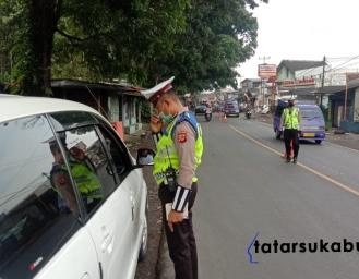 Polres Sukabumi Gelar Operasi Kendaraan di Ruas Jalan Parungkuda