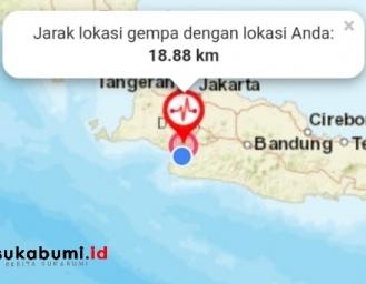 Gempa Darat Terkini Pusat Gempa di Sukabumi
