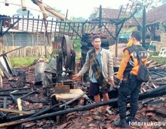 Pabrik Gesekan Kayu Miharja di Nagrak Sukabumi Ludes Terbakar